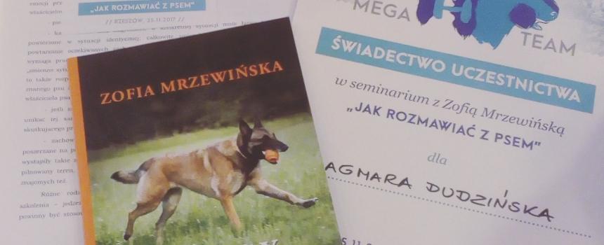 Seminarium z Zofią Mrzewińską – jak rozmawiać z psem – fotorelacja