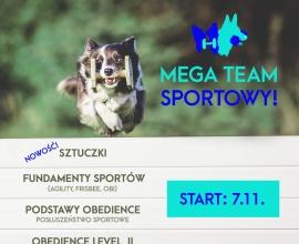 MEGA Team sportowy! Nabór na kursy sportowe